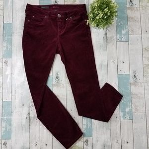 Kut From the Kloth Red Corduroy Diana Skinny Pants